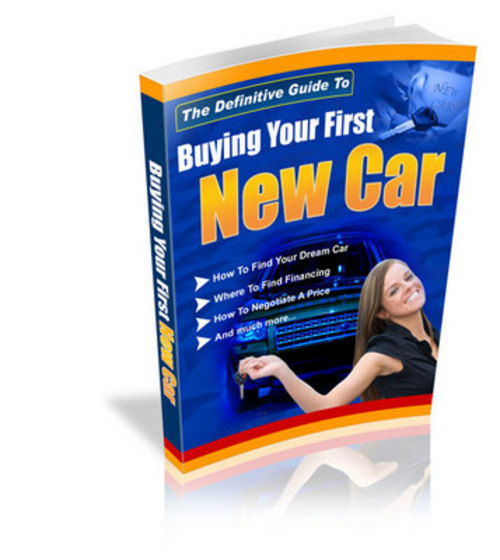 Product picture Buying Your First Car with PLR