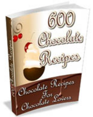 Product picture 600 Chocolate Recipes with PLR
