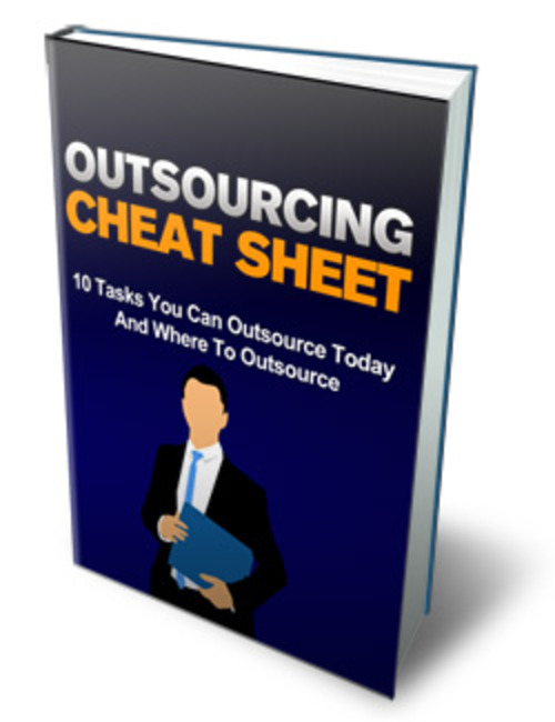 Product picture Outsourcing Cheat Sheet - MRR